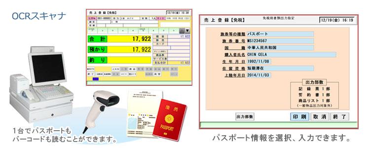 4.OCRスキャナを利用して、パスポート情報を帳票に手書きする手間を省けます。